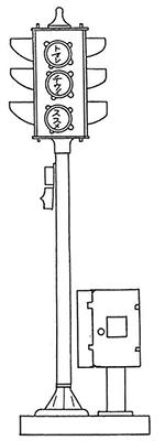 日本に輸入された色灯器式の自動交通整理信号機